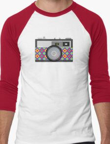 Retro Camera Men's Baseball ¾ T-Shirt