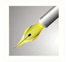 gold pen nib Art Print