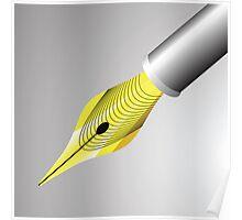 gold pen nib Poster