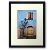 Window and Door in Blue Wall, Topolo Framed Print