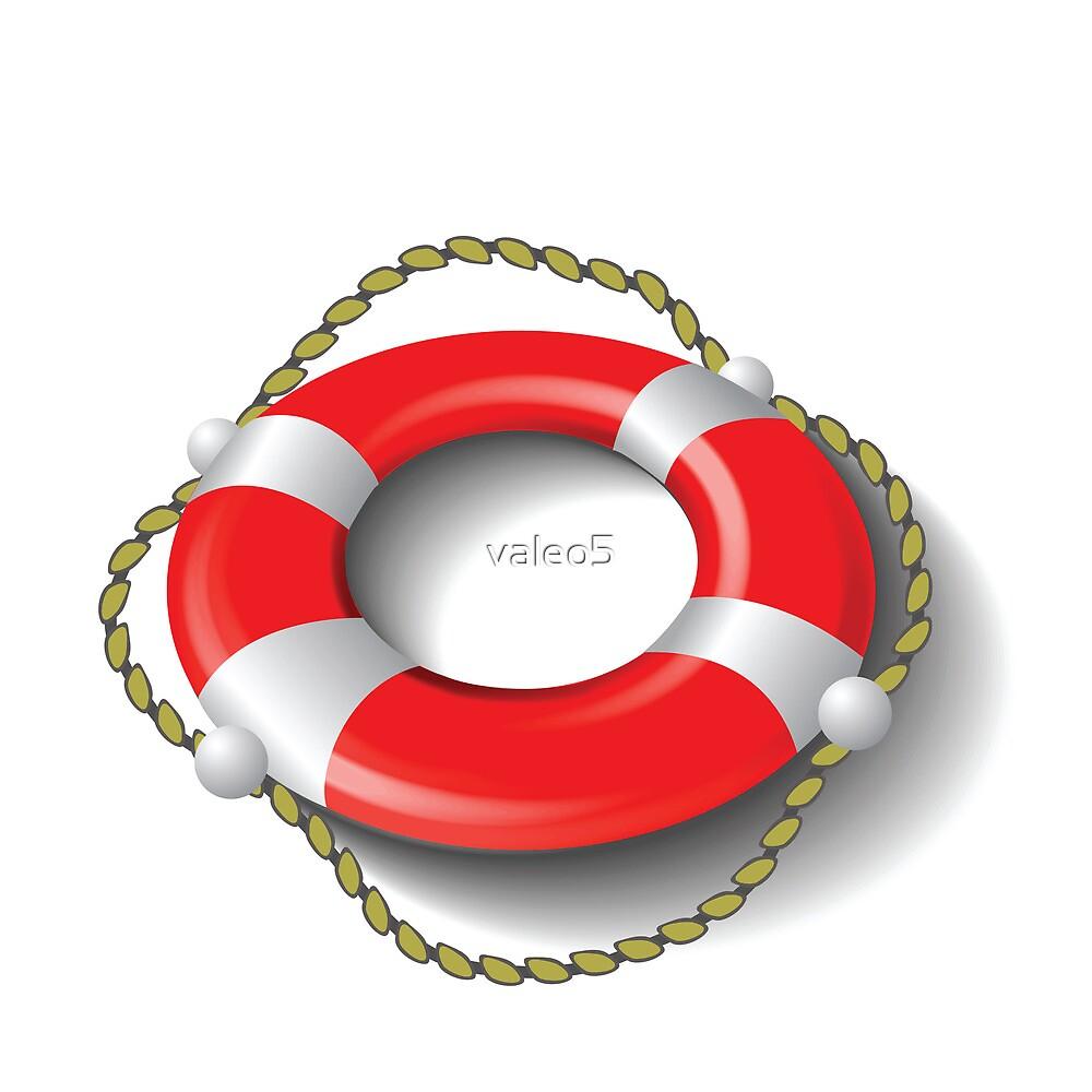 red lifebuoy by valeo5