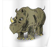 large rhino  Poster