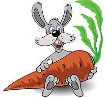 rabbit and carrot  by valeo5