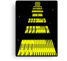 Phonetic Star Wars Canvas Print