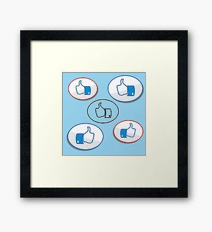 like button Framed Print