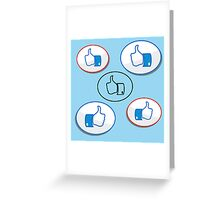 like button Greeting Card