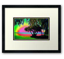 Psychedelic Sunshine Coast Framed Print