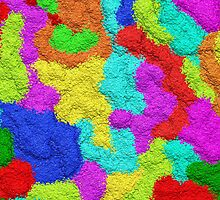 Psychedelic Glitter Pattern  by BluedarkArt