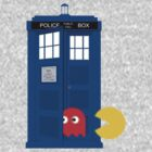 Dr. Who Tardis Pacman T Shirt by Fangpunk