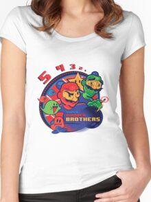 super bomber bros. - mario bomberman mashup Women's Fitted Scoop T-Shirt