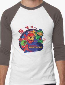 super bomber bros. - mario bomberman mashup Men's Baseball ¾ T-Shirt
