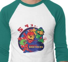 super bomber bros. - mario bomberman mashup Men's Baseball ¾ T-Shirt