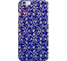 Vintage Floral Blue Wallpaper iPod iPhone Case iPhone Case/Skin