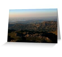View from Mount Nemrut Greeting Card