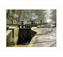 Canal at Tyrely Locks. Art Print