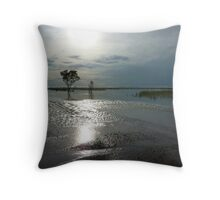 Kimberley Downs Flat in Flood Throw Pillow
