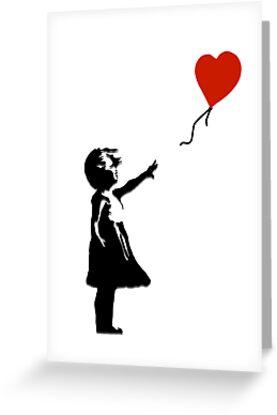 Girl with Balloons by LondonFreshTees