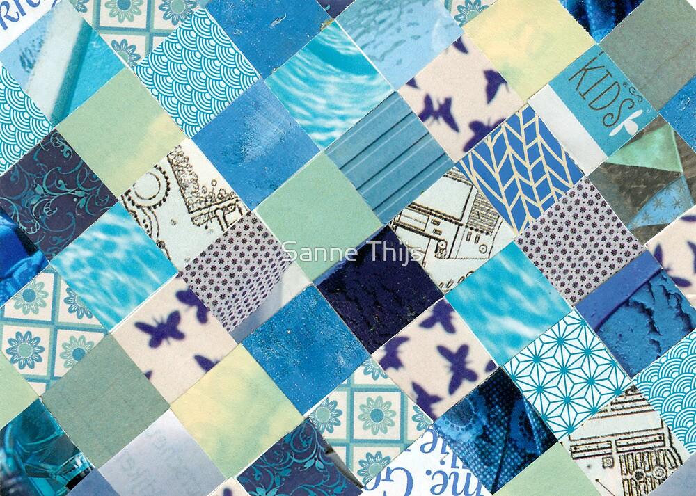 Collagecard: Bleu by Sanne Thijs