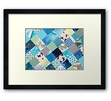 Collagecard: Bleu Framed Print
