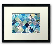 Collagecard: Bleu Framed Print