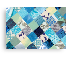 Collagecard: Bleu Canvas Print