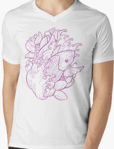 Koi Fish Mens V-Neck T-Shirt