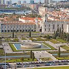 Jerónimos Monastery and the Empire Plaza. by tereza del pilar