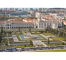 Jerónimos Monastery and the Empire Plaza. Photographic Print