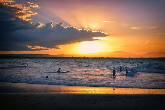Byron Bay Sunset by AJC Photography