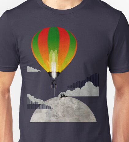 Picnic in a Balloon on the Moon Unisex T-Shirt