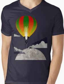 Picnic in a Balloon on the Moon Mens V-Neck T-Shirt
