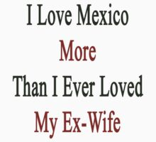I Love Mexico More Than I Ever Loved My Ex-Wife by supernova23