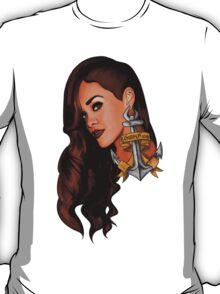 Rihanna Navy T-Shirt
