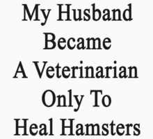 My Husband Became A Veterinarian Only To Heal Hamsters by supernova23