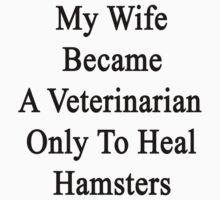 My Wife Became A Veterinarian Only To Heal Hamsters by supernova23