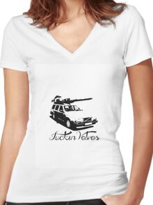The Volvo 240 Tank Women's Fitted V-Neck T-Shirt