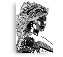 B&W Fashion Illustration - Wilko Johnson Canvas Print
