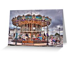 Merry-go-round in Honfleur - France Greeting Card