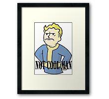 VAULT BOY - NOT COOL MAN Framed Print