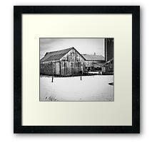 Wisconsin Winter Farm  Framed Print