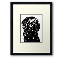 Black Lab Beauty Graphic ~ black and white Framed Print