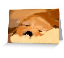 Sleeping golden puppy Greeting Card
