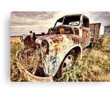 Vintage Truck abandoned Saskatchewan Field Canada Canvas Print
