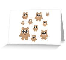 Brown Bears Greeting Card
