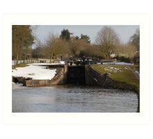Snowy Locks at Tyrely Art Print