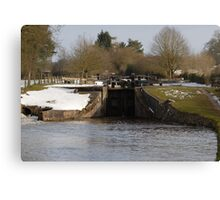 Snowy Locks at Tyrely Canvas Print