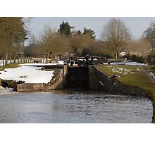 Snowy Locks at Tyrely Photographic Print