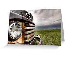 Old Vintage Truck oon the Prairie Saskatchewan Greeting Card