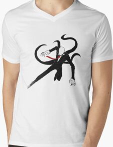 Slenderman Mens V-Neck T-Shirt