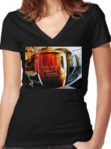 This Beer Makes Me Awesome Women's Fitted V-Neck T-Shirt